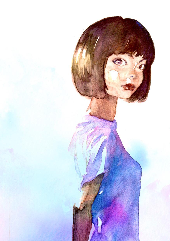 風景つき似顔絵を描きます 他者とは違う、目をひく似顔絵を