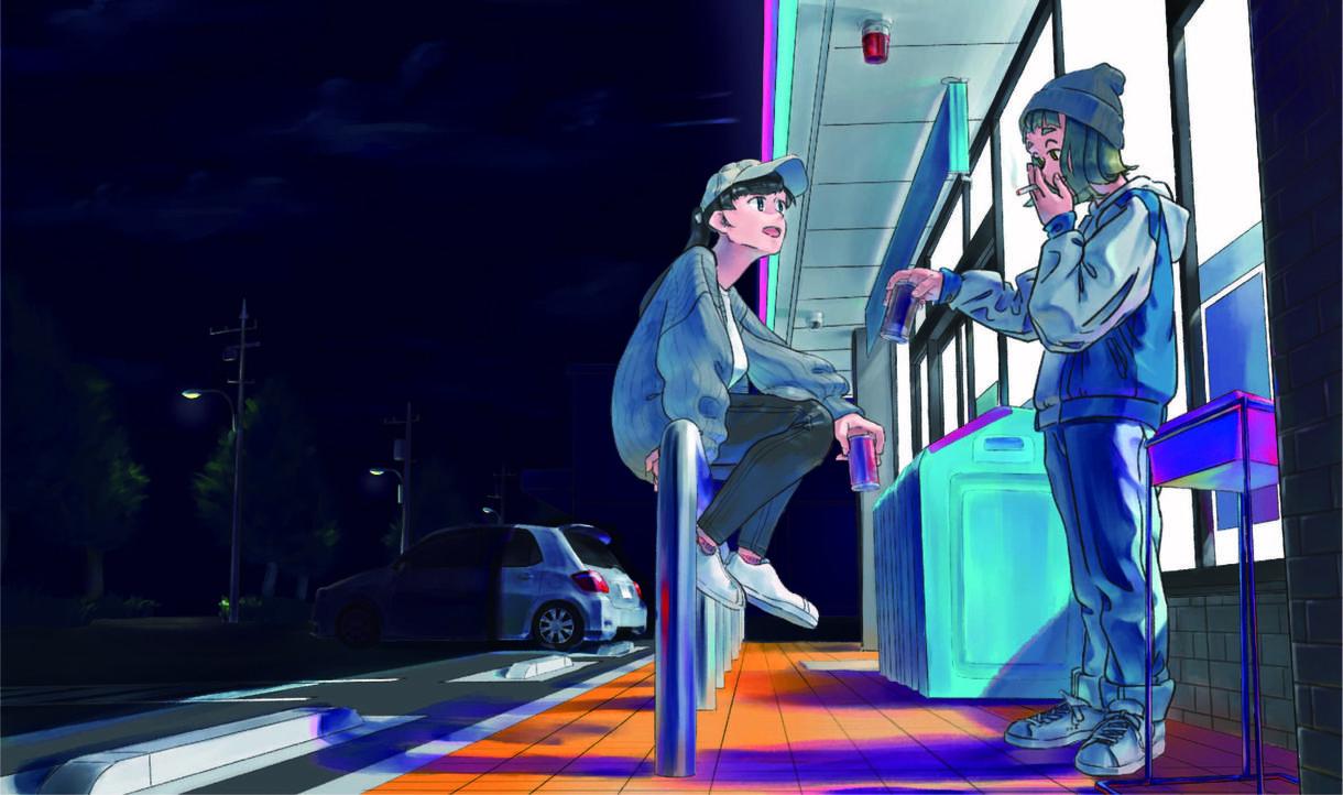 SNS用のアイコン描きます ダウナーで、ストリート系な雰囲気がお好みの方におすすめです!