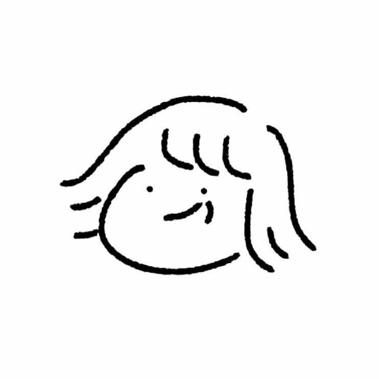 あなたのアイコンを描きます 顔だけのシンプルでかわいいゆるふわなアイコン⍤⃝♡