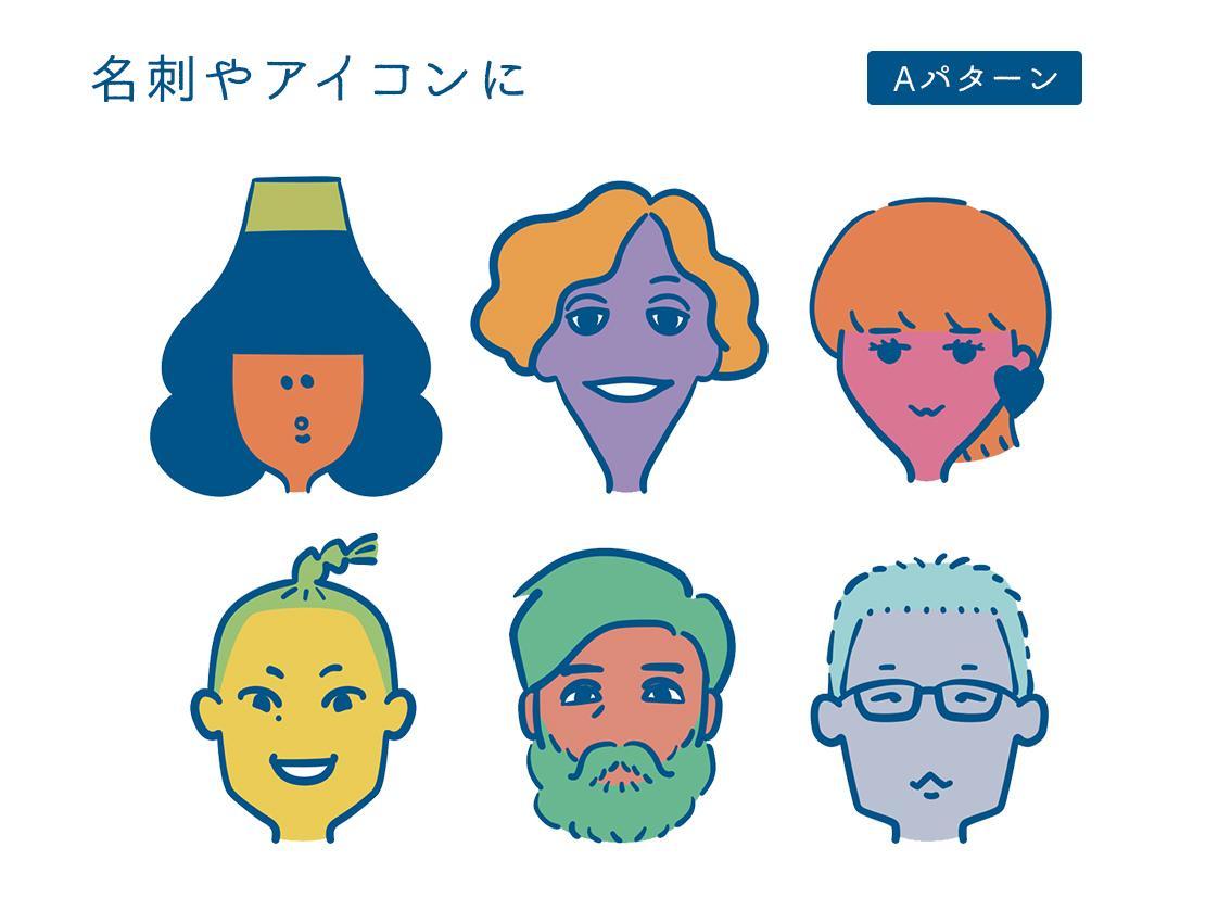 シンプルな似顔絵描きます 2パターンからお選び頂けます! イメージ1