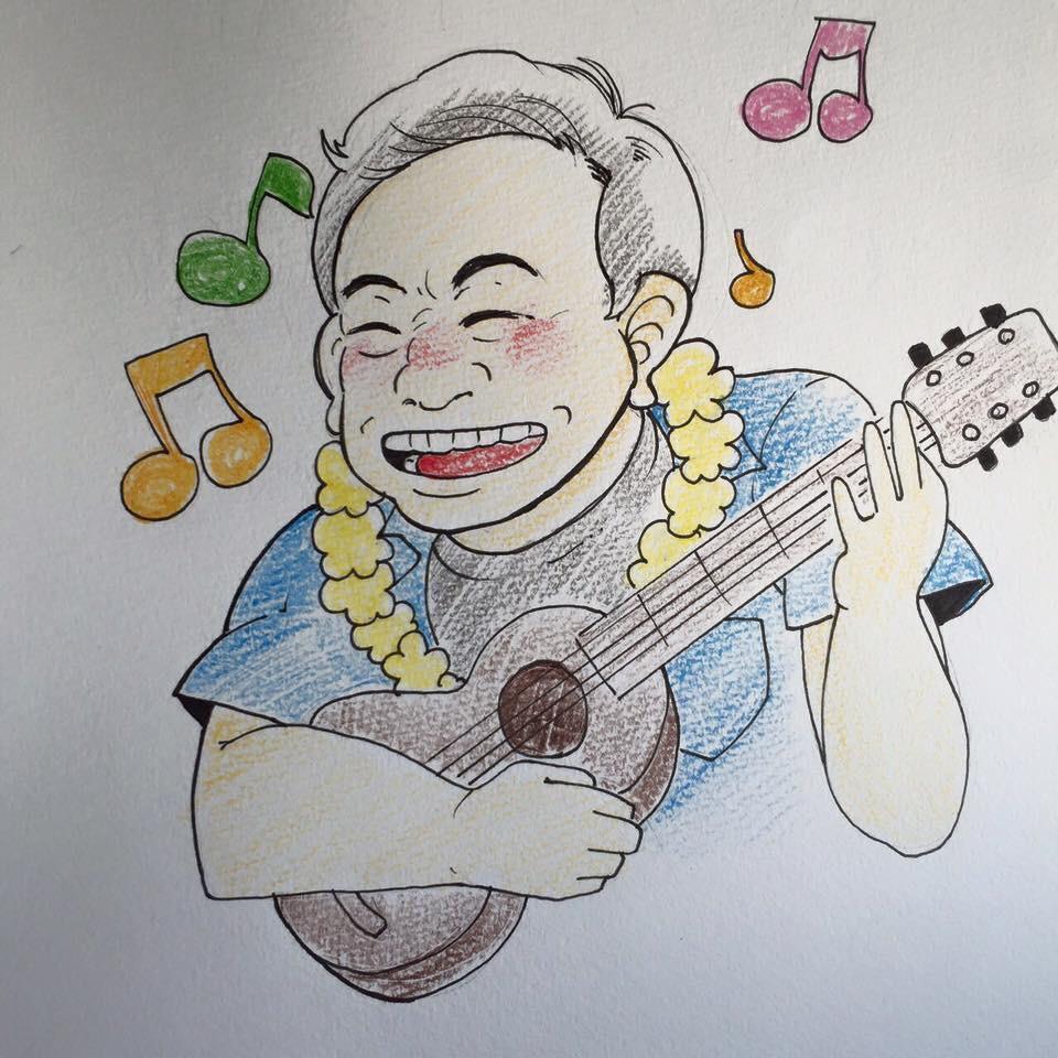 色鉛筆での似顔絵イラスト作成!お誕生日のお祝いにも