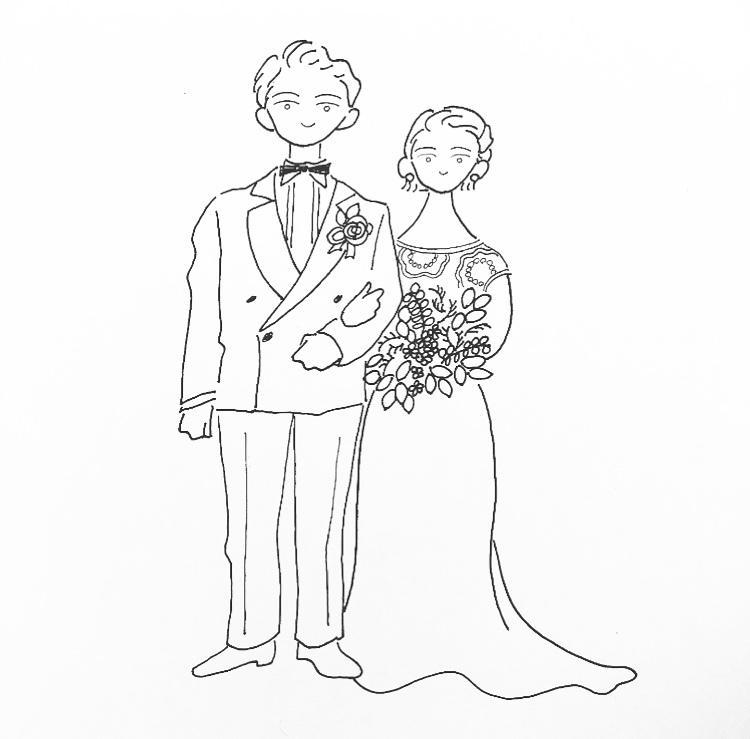 ウェディングのオリジナルイラストを描きます 特別な日にあなただけのイラストはいかがでしょうか?