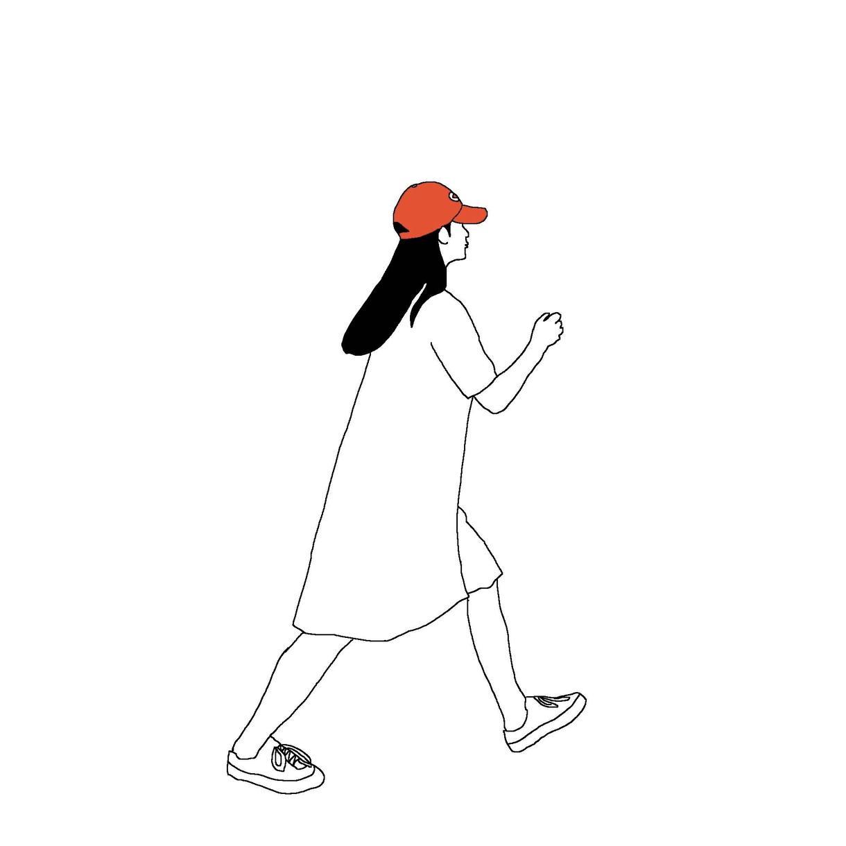 イラストを描きます ビビビッと、手を止めるデザインを。