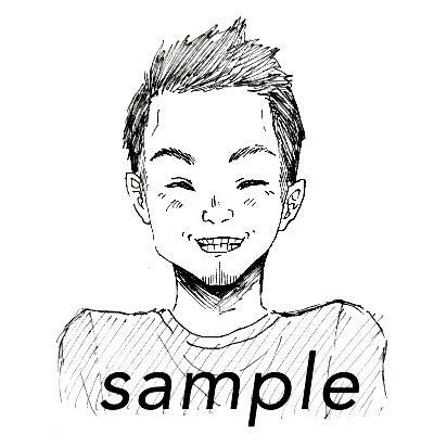 ペン画であなたそっくりのアイコン描きます 漫画風のアイコンが欲しいなと思った方必見です。