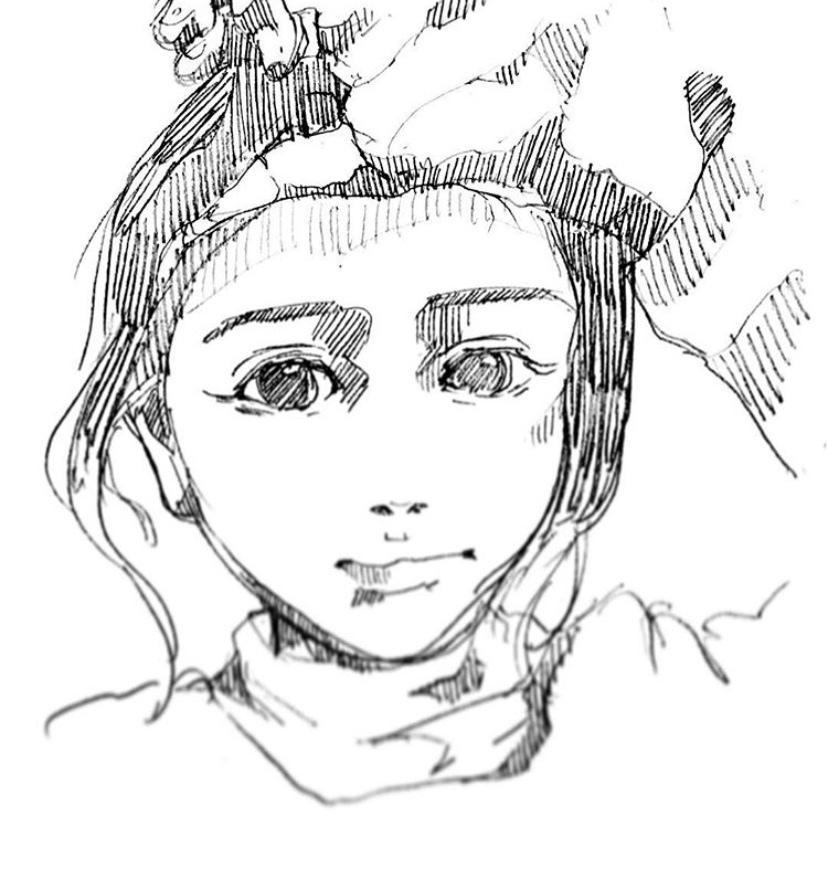手描き風似顔絵、イラストお描きます アナログ調のモノクロでシックな似顔絵やイラストをご提供します イメージ1