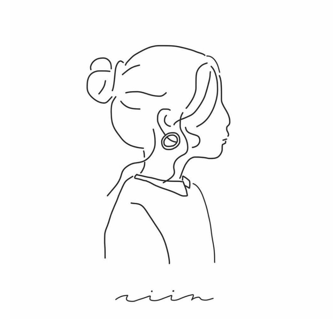 シンプルな線画で人物+文字のロゴを作成します ハンドメイドアクセサリーやサロンのグッズにも使用可能です!