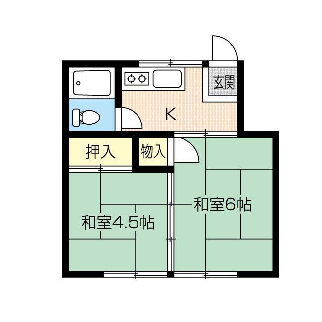 不動産物件資料から間取り図データ制作します 1K〜2DKハイツ・アパート専用。イラレで間取り作成します