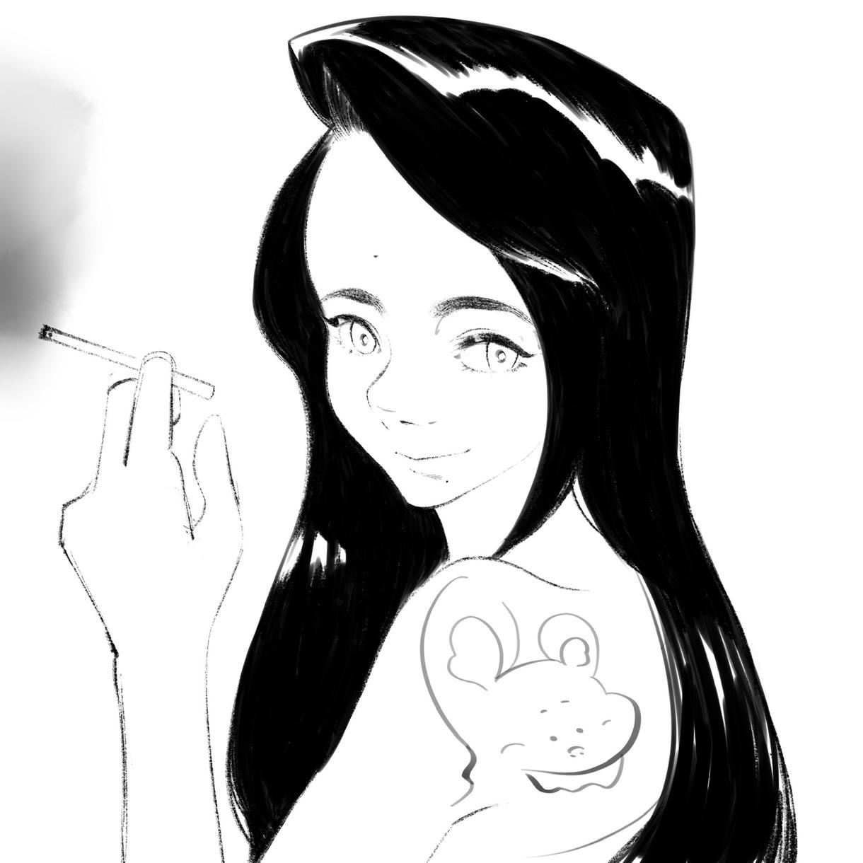 繊細で個性的な絵を描きます 挿絵・アイコンなどのイラストを主に白黒で描きます イメージ1