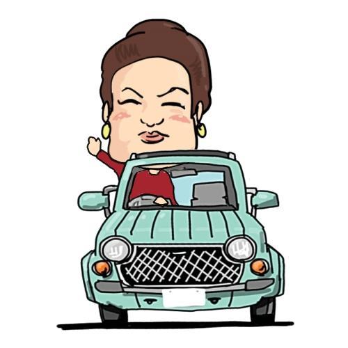 ★ゆるいイラスト、車orバイク+似顔絵 SNSアイコン作成致します。