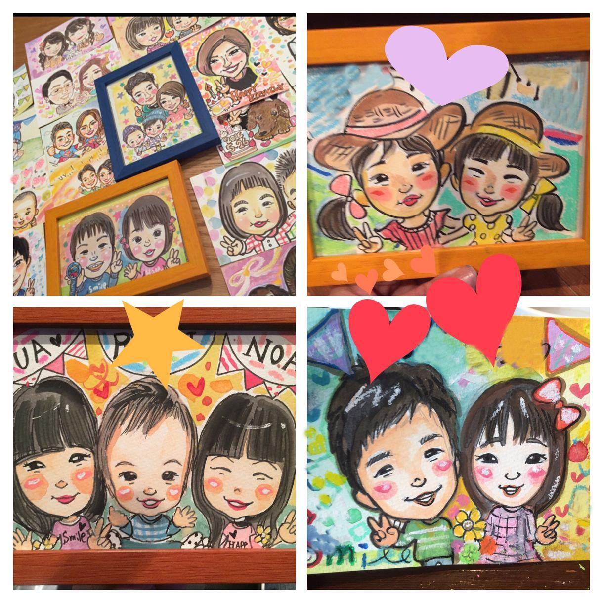 ケーキ花束サービス♡A4まで選べる用紙サイズ★あったか〜い似顔絵★描きます