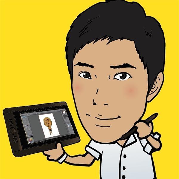 似顔絵イラスト描かせて頂きます SNSのアイコンや名刺・チラシ等に活用下さい。