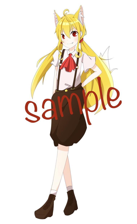 キャラクターの立ち絵を描きます 自分だけの立ち絵が欲しい人に低価格で提供します!