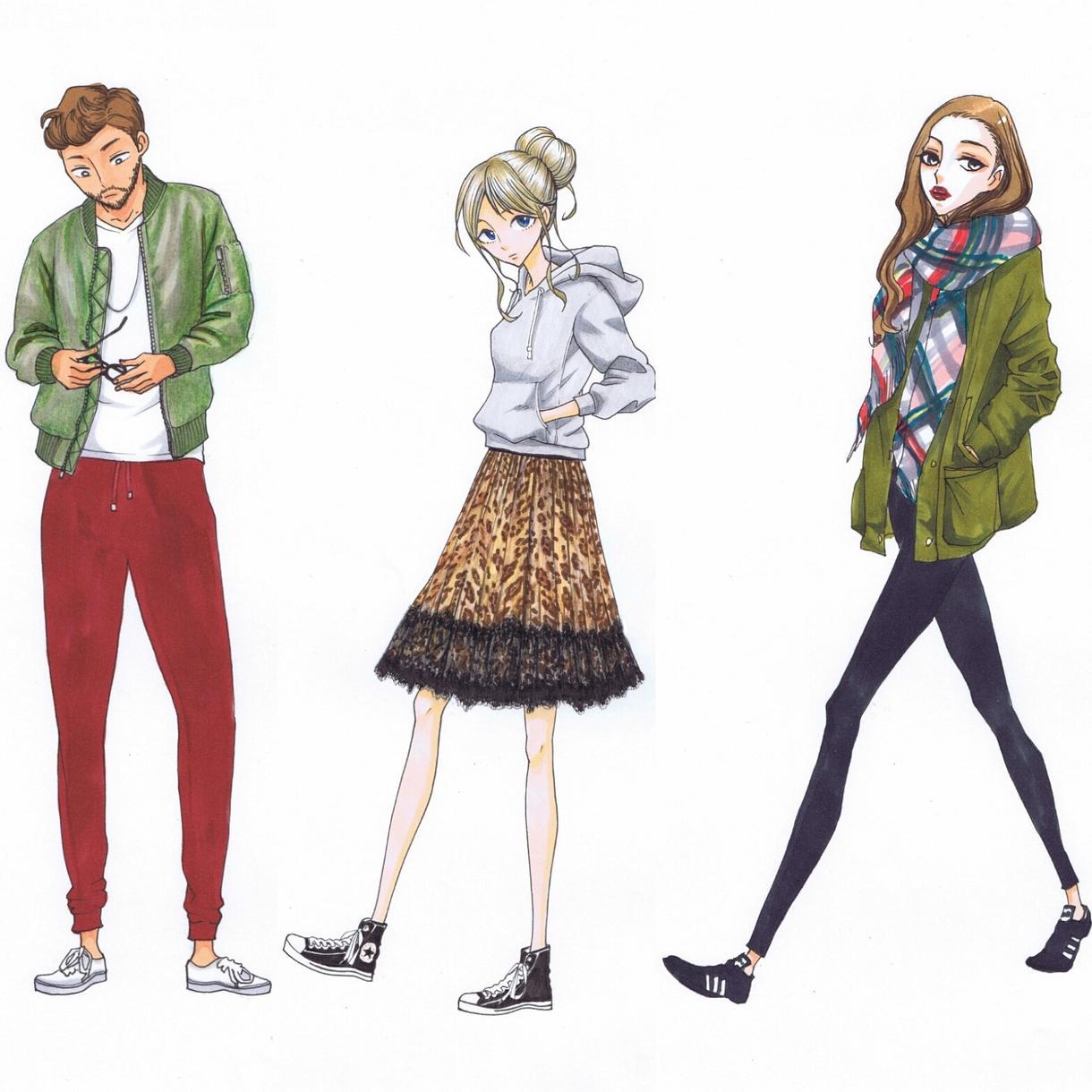 SNSアイコン、イラストをお描き致します おしゃれ・ファッション好きな方におすすめ##