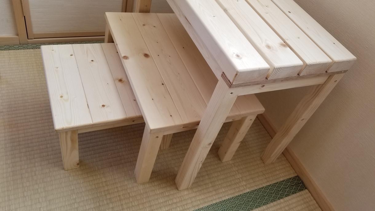 お部屋の空いた隙間に収まる棚・台など作ります 全てサイズ調整やオーダーメイド可能