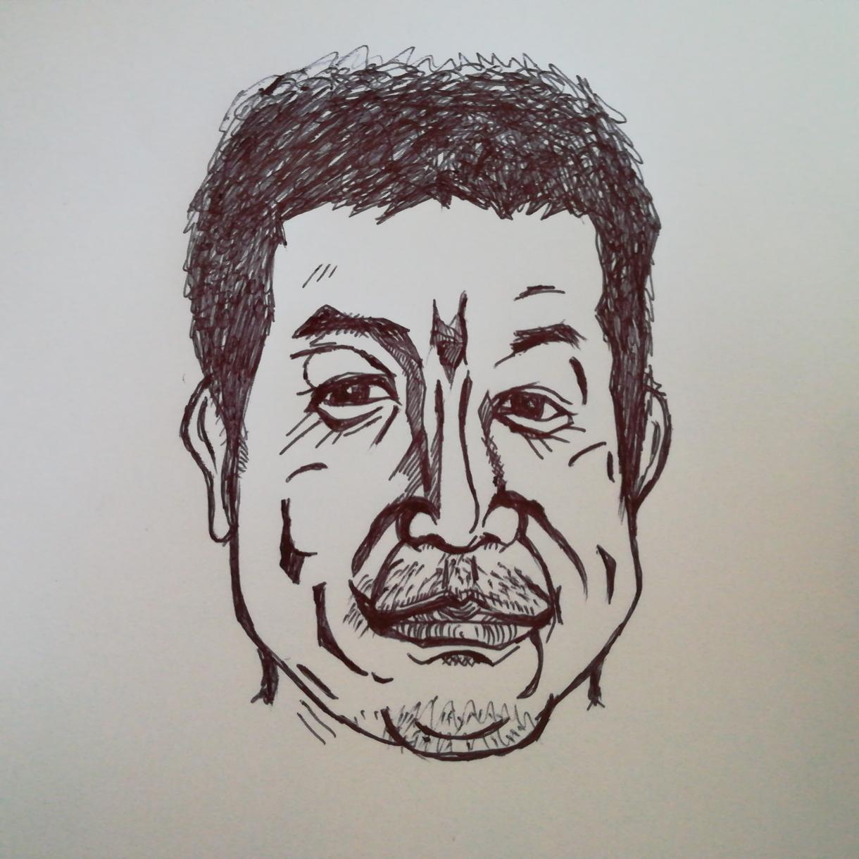 失礼でシンプルで少しデフォルメした似顔絵書きます 自分では見えない特徴等を知りたい方へ