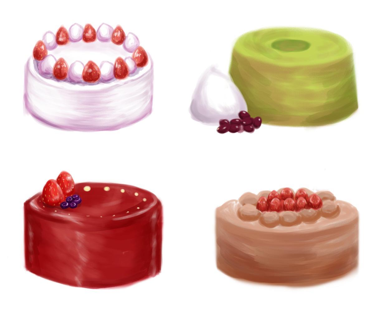 お菓子イラストを描きます ケーキやクッキー、可愛いお菓子を描かせて頂きます。 イメージ1