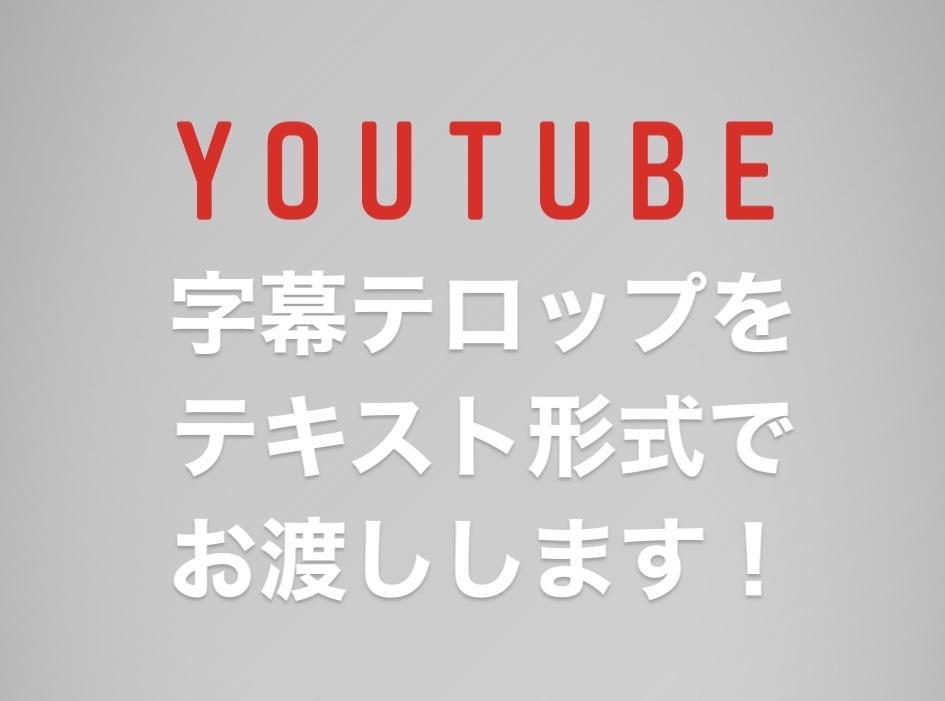 YouTube動画の字幕をテキストでお渡しします 結局、字幕編集も自分でやりたい!という方へ! イメージ1