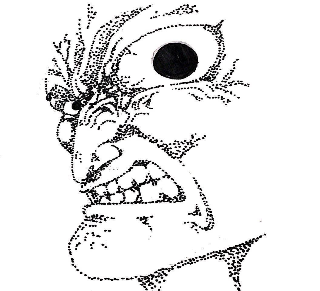 モノクロ線画で似顔絵・アイコンイラストを描きます 濃くてシュールなあなただけの似顔絵・アイコンが欲しい時に