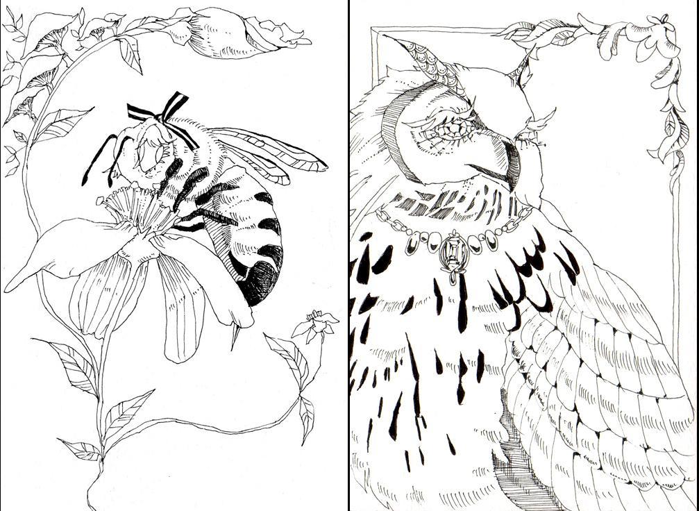 リアルテイストなモノクロイラスト描きます 雑誌やWEBの挿絵やアイコン、素材に!
