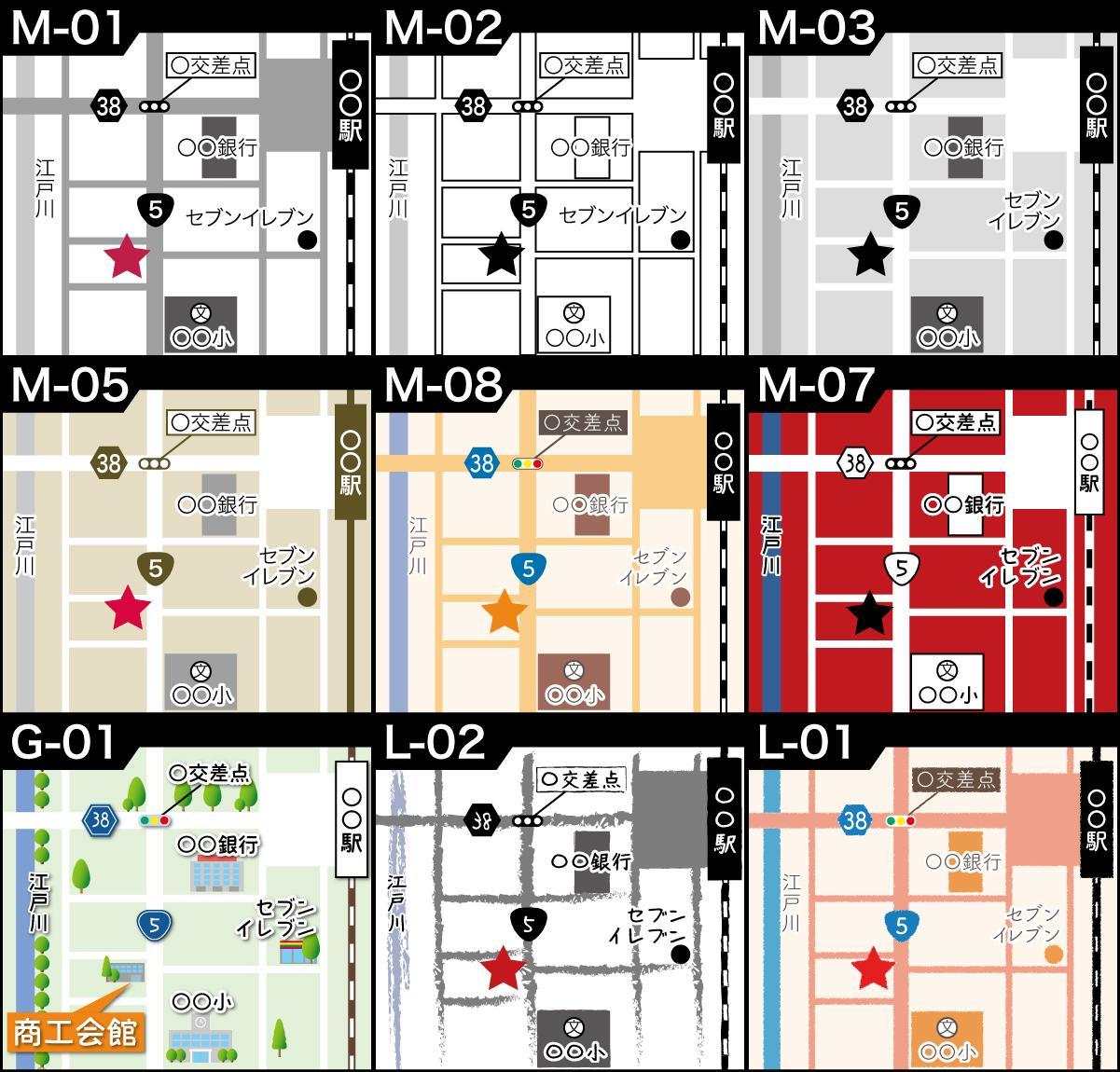 製作2日、2000円から地図を作ります 簡易からデザイン地図までご要望にあった地図を2日で作成します