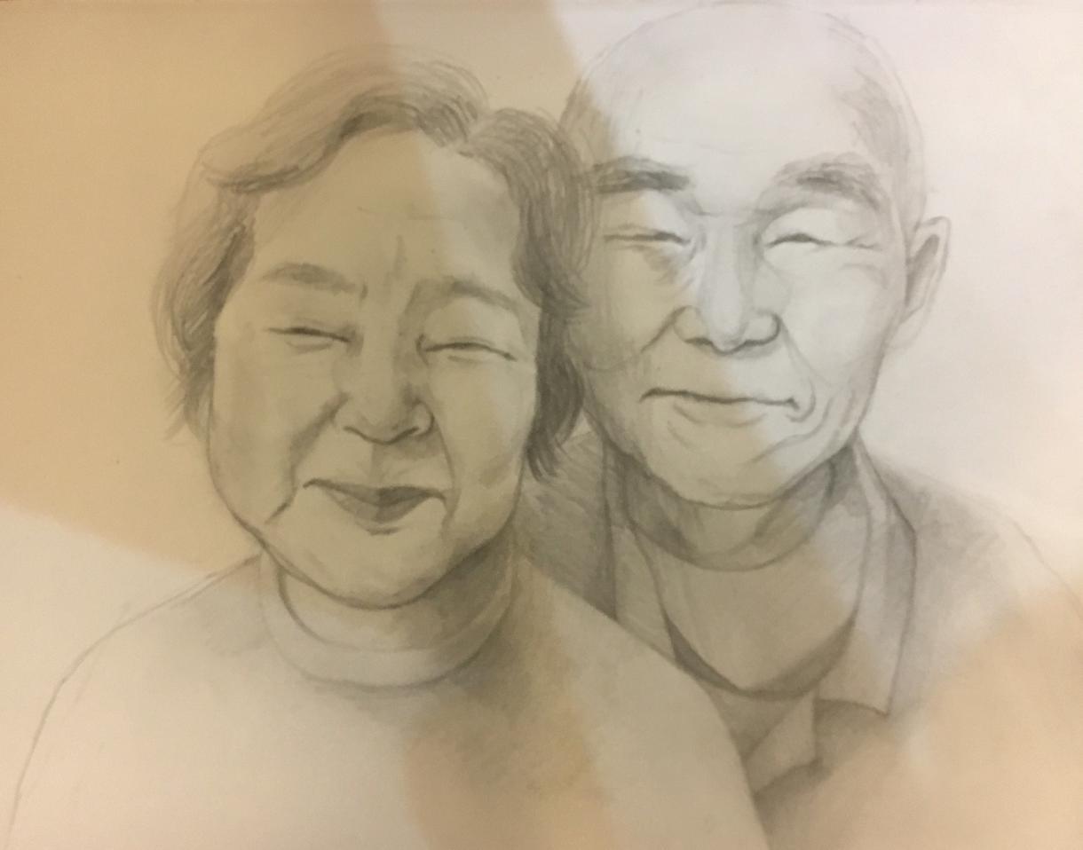 あたたかい似顔絵描きます 鉛筆、水彩どちらでもできます。似顔絵です(^^)