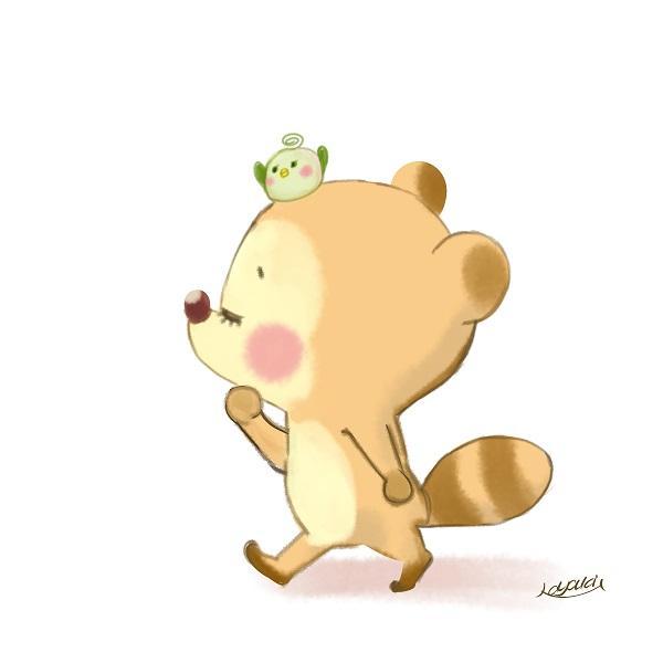 可愛いほのぼの動物イラストキャラクターを描きます Snsや商品pop