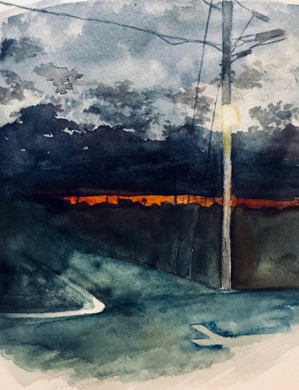 絵の具で風景画を描きます お気に入りの風景を絵にしてみませんか?