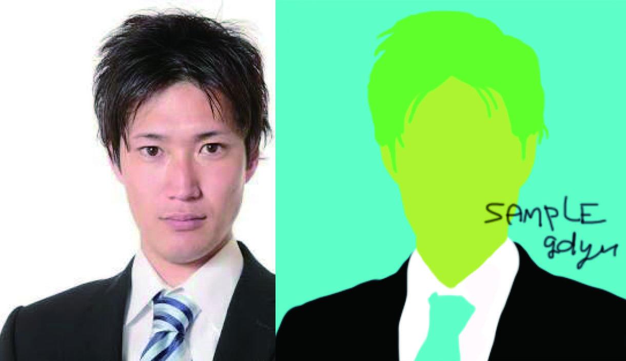 おしゃれなシルエット似顔絵イラスト制作いたします サイトやSNSのアイコンなどにおすすめです