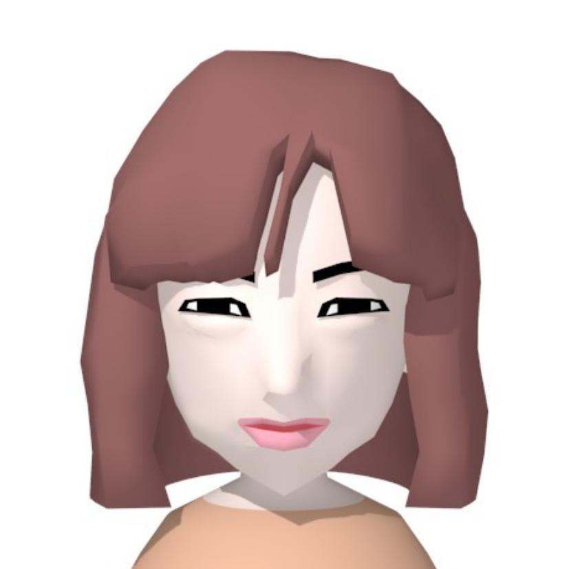3Dの似顔絵を作成します SNSのアイコンや名刺のイラストになどにどうぞ