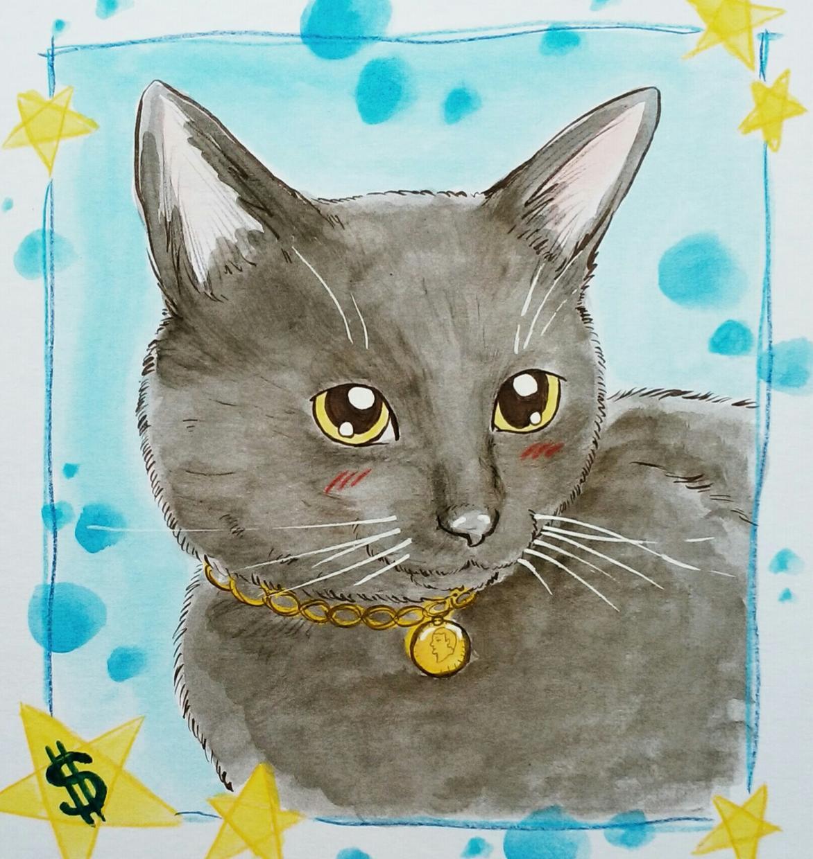 かわいいペットの手描き似顔絵を描きます 世界で一枚だけの手描きの似顔絵。ご自宅用・プレゼント用に!