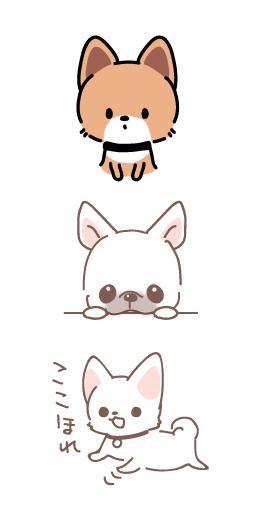 犬・ペットのキャラクター風イラスト承ります SNSアイコンや名刺・自分用グッズご利用できます