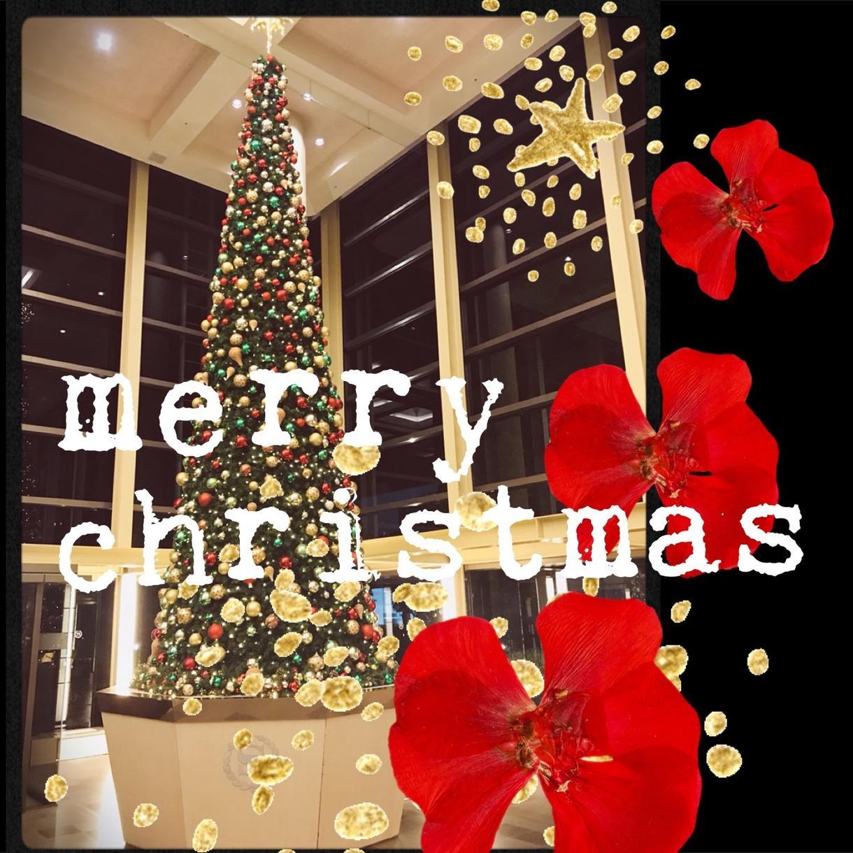 あなただけの!おしゃれなクリスマス画像作ります 写真、画像をコラージュや文字入れしてクリスマス画像作ります*