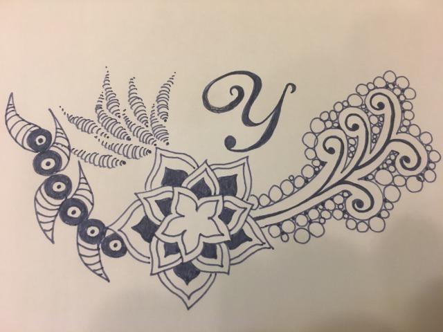 イニシャルをゼンタングルアートでデザインします あなたのイニシャルをキーワードからイメージして飾ります。