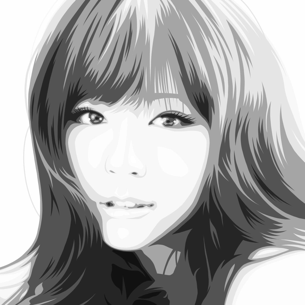 似顔絵をおしゃれなアートに仕上げます おしゃれ似顔絵アートでさらに美しく。 イメージ1