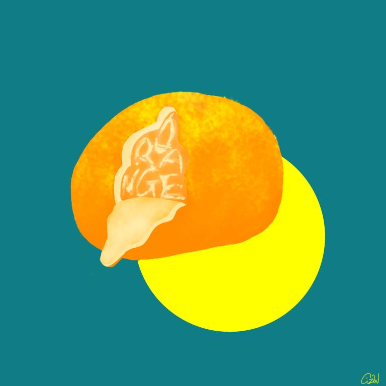 食べ物×文字を掛け合わせたイラストを描きます イラストと文字を掛け合わせた作品を考え、作成致します。