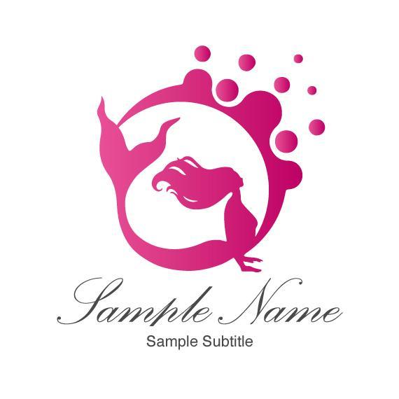 女性の美を表現☆世界に一つの人魚のロゴ提供します 出来上がっているデザインだから安心☆自由にカスタマイズも可☆ イメージ1