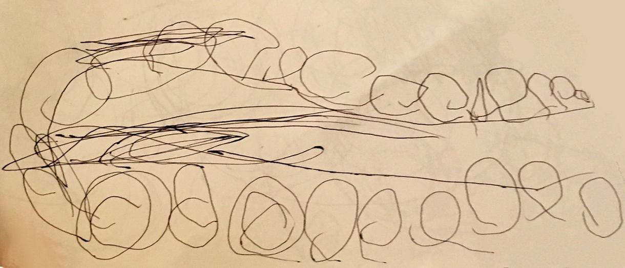 お子さんの初めての落書きを本物のアートにします お子さんの初めての落書きをアートを作成・額装してお届けします