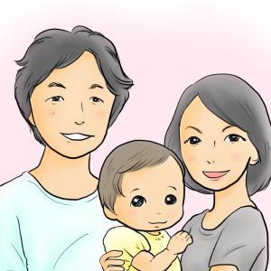 カラー版・お写真をもとに似顔絵を描きます お子さんの記念や名刺用にも使えます!