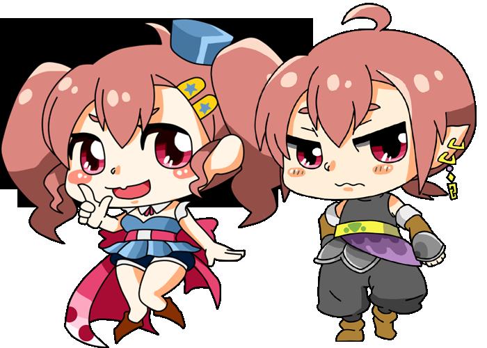 ミニキャラクターイラスト作成します ぷにぷに・ポップ・かわいい絵、アイコンやHPのアクセントに!