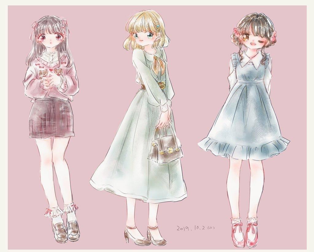 可愛い*ガーリーなイラスト描きます 好きなファッションや可愛いものをイラストに!