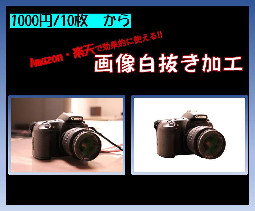 1000円/10枚  から画像の白抜きを行います 楽天、Amazonのサムネイル画像などでも有効に活用できます イメージ1