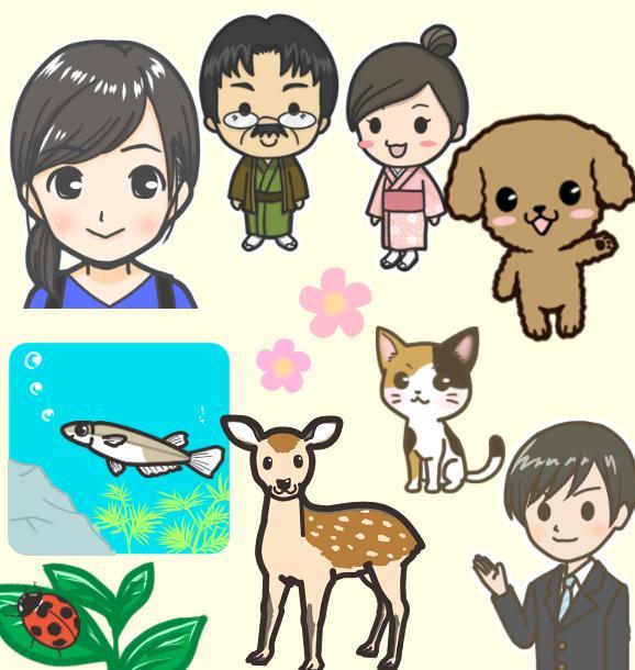 イラストカットお描きします 人、動物、モノ、食べ物などをシンプルなタッチで イメージ1