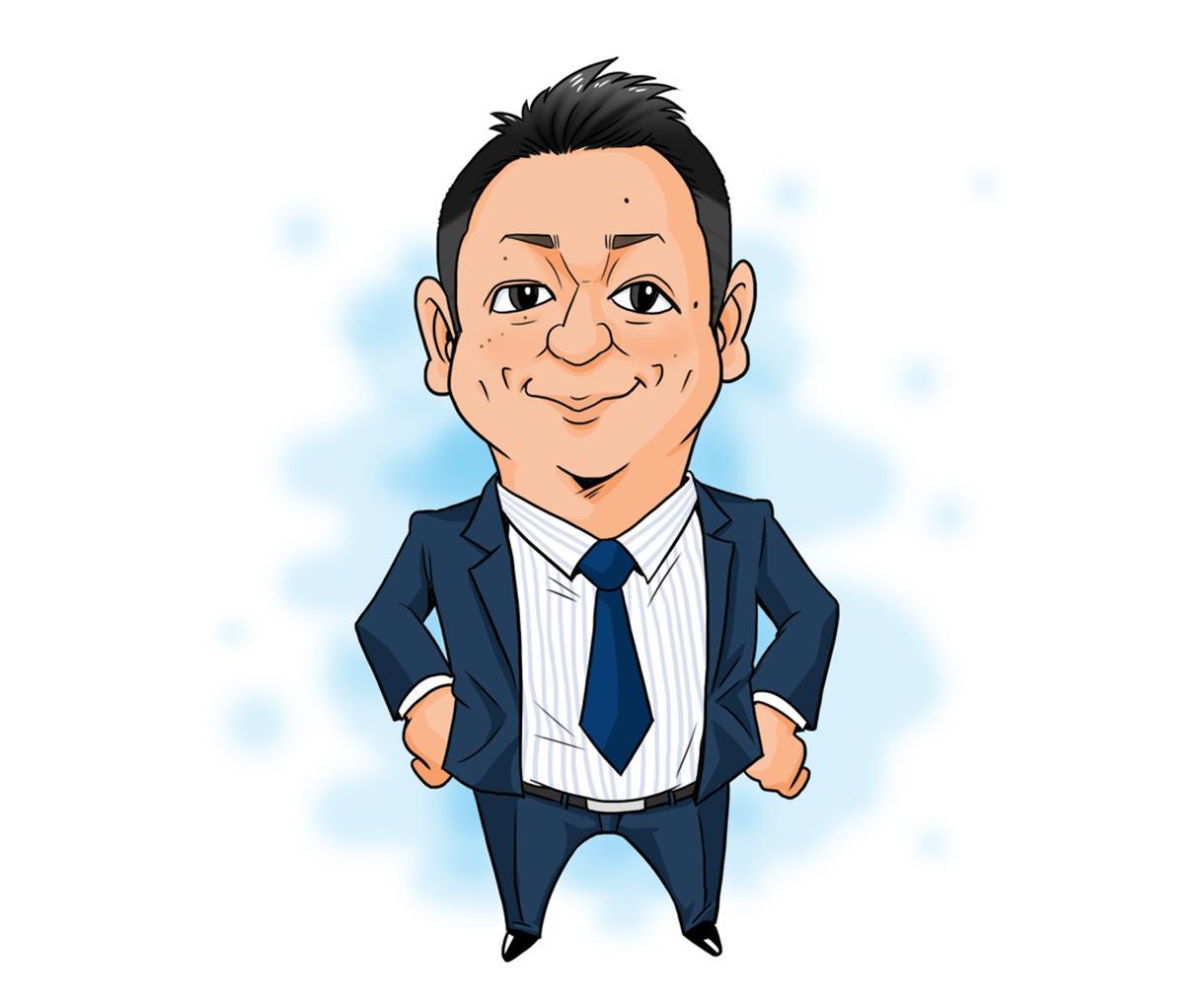 男性必見!!「男前な似顔絵」を制作実績12万人のプロの似顔絵師がお描きします!!!