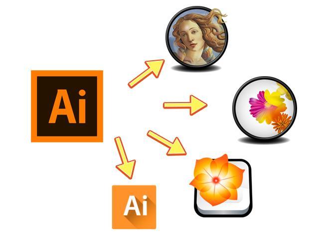 Illustratorのバージョンを変換します バージョンの新しいaiデータが上手く開かないときに