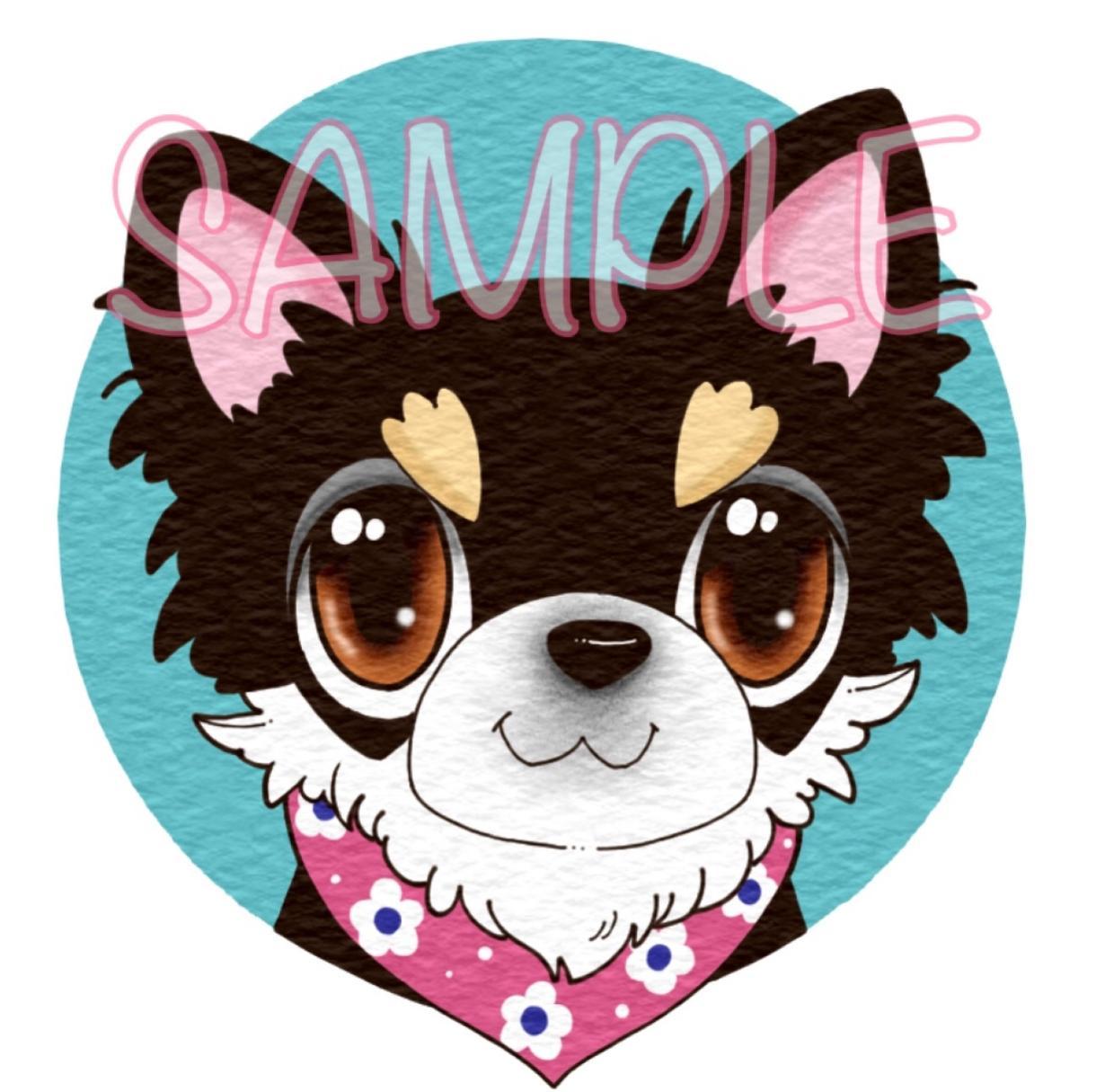 SNS映えするポップな動物アイコンお描きします 可愛いペットの似顔絵、動物イラストをアイコンにしませんか? イメージ1