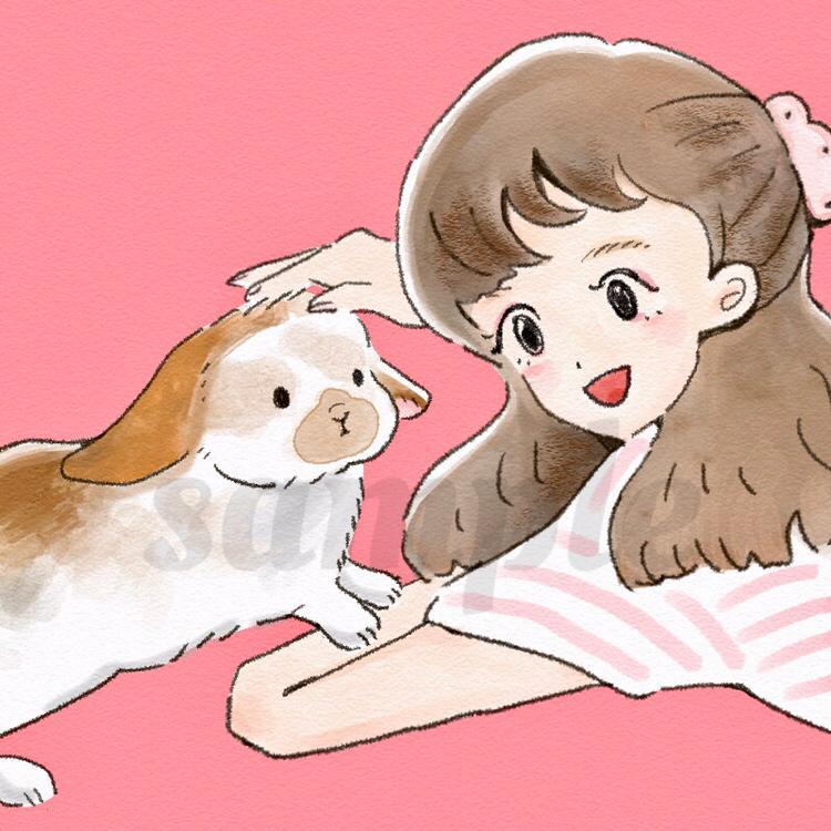 ペットや動物のイラストお描きします アイコンやプレゼントなどにぜひ!