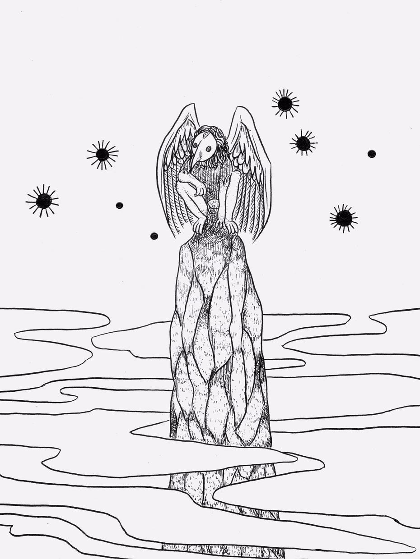 幻想的なモノクロのイラストを描きます 【アイコン、挿絵にも】ペン画家による繊細でおしゃれなアート
