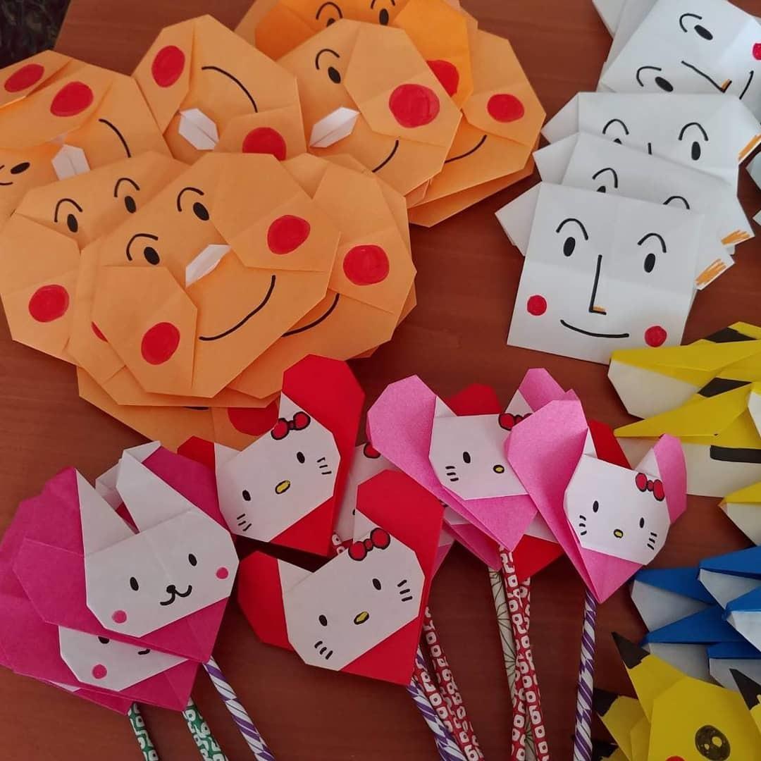 折り図が読めないあなたに、折り紙教えます キャラクター折り紙、とても豪華な花のくす玉、鶴の華など。 イメージ1