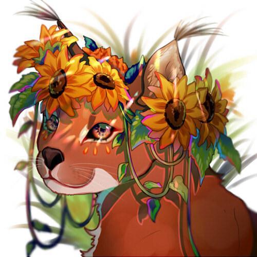 SNS等で使用するアイコン描きます 動物、少女と花を組み合わせる自然メインの絵が得意です! イメージ1