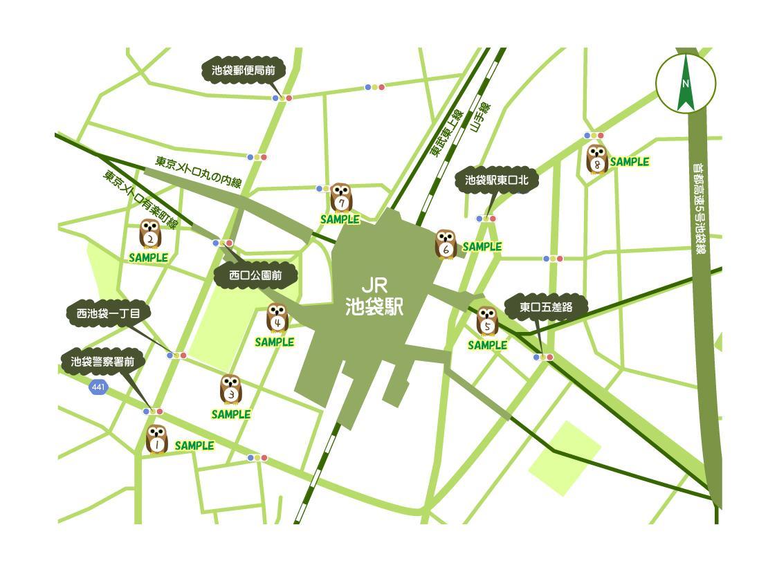 マインドマップやルートマップ(地図)を制作します プロデザイナーが案内地図・特殊地図をデザインします